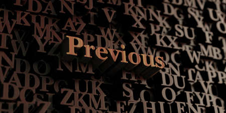 Previous - Wooden 3D rendered lettersmessage.  Can be used for an online banner ad or a print postcard. Stock Photo