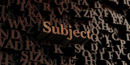 subject: Subject - Wooden 3D rendered lettersmessage.  Can be used for an online banner ad or a print postcard.