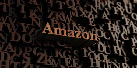 amazon: Amazon - Wooden 3D rendered lettersmessage.  Can be used for an online banner ad or a print postcard.