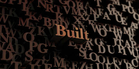 Built - Wooden 3D rendered lettersmessage.  Can be used for an online banner ad or a print postcard.
