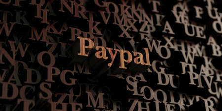 paypal: Paypal - Wooden 3D rendered lettersmessage.  Can be used for an online banner ad or a print postcard. Editorial