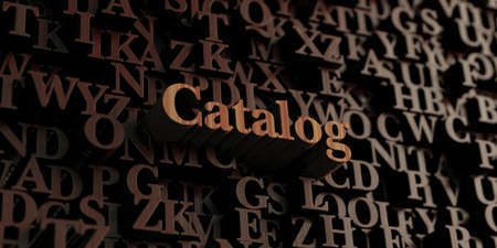 catalog: Catalog - Wooden 3D rendered lettersmessage.  Can be used for an online banner ad or a print postcard.
