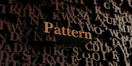 Pattern - Wooden 3D rendered lettersmessage.  Can be used for an online banner ad or a print postcard. Reklamní fotografie
