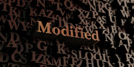 modified: Modified - Wooden 3D rendered lettersmessage.  Can be used for an online banner ad or a print postcard.