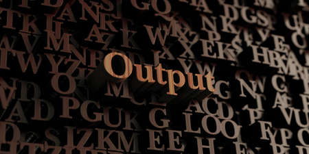 output: Output - Wooden 3D rendered lettersmessage.  Can be used for an online banner ad or a print postcard.