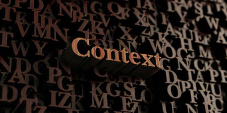 context: Context - Wooden 3D rendered lettersmessage.  Can be used for an online banner ad or a print postcard.