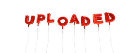 uploaded: UPLOADED - word made from red foil balloons - 3D rendered.  Can be used for an online banner ad or a print postcard.