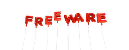 freeware: FREEWARE - word made from red foil balloons - 3D rendered.  Can be used for an online banner ad or a print postcard.