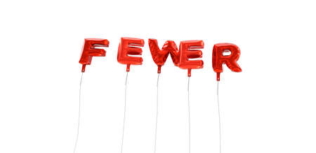 fewer: FEWER - word made from red foil balloons - 3D rendered.  Can be used for an online banner ad or a print postcard.