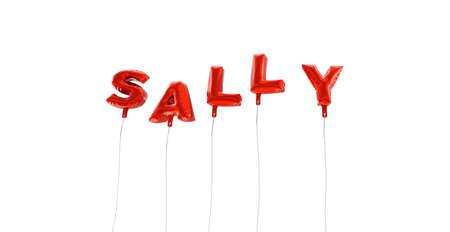 サリー - 赤箔バルーン - 3 D レンダリングから作られた言葉。 オンラインのバナー広告や印刷のはがきに使用できます。 写真素材 - 65684334