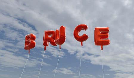 ブルース - 青い空に赤箔バルーン - 3 D レンダリングされたロイヤリティ フリー ストック画像。この画像は、オンラインの web サイトのバナー広告や