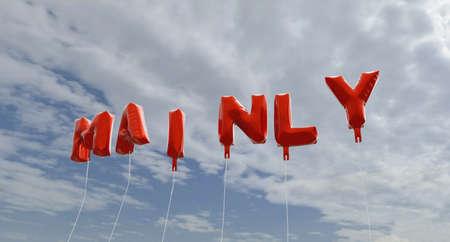 주로 푸른 하늘 -3d에 빨간색 호 풍선 풍선을 렌더링 로열티 무료 재고 사진입니다. 이 이미지는 온라인 웹 사이트 배너 광고 또는 인쇄 엽서에 사용할