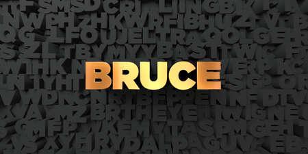 ブルース - 黒地にゴールド テキスト - 3 D レンダリングされたロイヤリティ フリー ストック画像。この画像は、オンラインの web サイトのバナー広