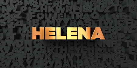 Helena - Gold text on black background - 3D rendered royalty free stock picture. This image can be used for an online website banner ad or a print postcard.