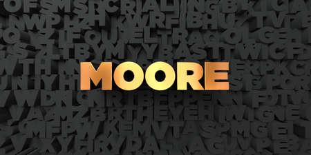 ムーア - 黒地にゴールド テキスト - 3 D レンダリングされたロイヤリティ フリー ストック画像。この画像は、オンラインの web サイトのバナー広告