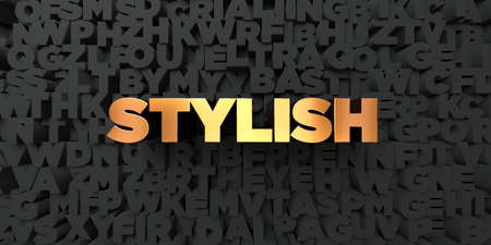 royalty free: Stylish - Gold text on black background - 3D rendered royalty free stock picture. This image can be used for an online website banner ad or a print postcard.