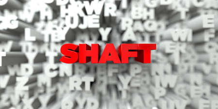 shaft: SHAFT -  Red text on typography background - 3D rendered royalty free stock image. This image can be used for an online website banner ad or a print postcard.