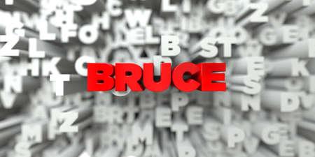 ブルース - タイポグラフィの背景に赤いテキスト - 3 D レンダリングされたロイヤリティ フリー ストック イメージ。この画像は、オンラインの web