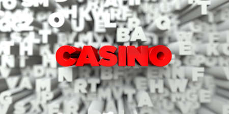 stock image: CASINO -  Red text on typography background - 3D rendered royalty free stock image. This image can be used for an online website banner ad or a print postcard. Stock Photo