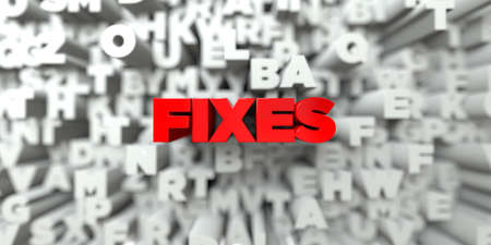 FIXES -  Red text on typography background - 3D rendered royalty free stock image. This image can be used for an online website banner ad or a print postcard. Reklamní fotografie