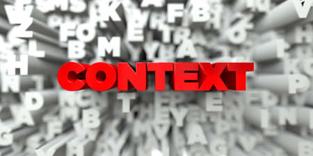 CONTEXT -  Red text on typography background - 3D rendered royalty free stock image. This image can be used for an online website banner ad or a print postcard. Reklamní fotografie
