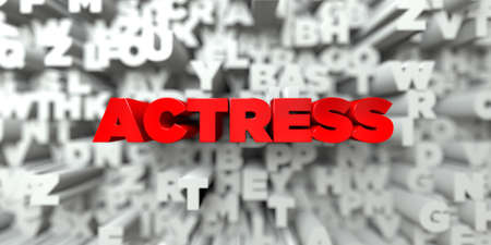 actress: ACTRESS -  Red text on typography background - 3D rendered royalty free stock image. This image can be used for an online website banner ad or a print postcard.