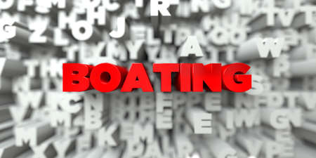 boating: BOATING -  Red text on typography background - 3D rendered royalty free stock image. This image can be used for an online website banner ad or a print postcard. Stock Photo