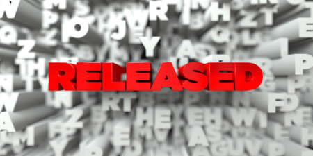 royalty: RELEASED -  Red text on typography background - 3D rendered royalty free stock image. This image can be used for an online website banner ad or a print postcard.