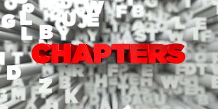 章 - タイポグラフィの背景に赤いテキスト - 3 D レンダリングされたロイヤリティ フリー ストック イメージ。この画像は、オンラインの web サイト