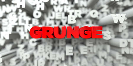 free stock: GRUNGE -  Red text on typography background - 3D rendered royalty free stock image. This image can be used for an online website banner ad or a print postcard.