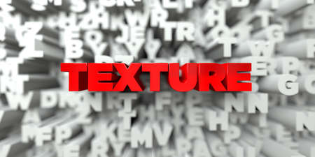 free stock: TEXTURE -  Red text on typography background - 3D rendered royalty free stock image. This image can be used for an online website banner ad or a print postcard.