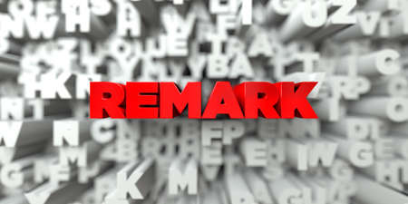REMARK -  Red text on typography background - 3D rendered royalty free stock image. This image can be used for an online website banner ad or a print postcard. Reklamní fotografie