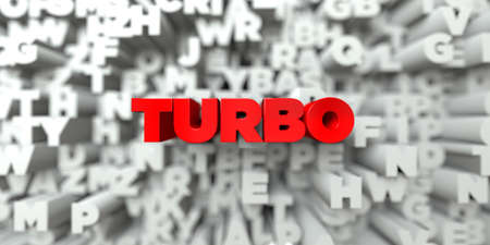 turbo: TURBO -  Red text on typography background - 3D rendered royalty free stock image. This image can be used for an online website banner ad or a print postcard.