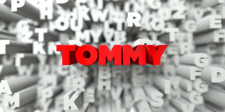 tommy: TOMMY -  Red text on typography background - 3D rendered royalty free stock image. This image can be used for an online website banner ad or a print postcard.
