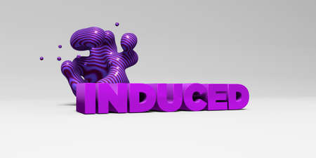 induced: INDUCED -  color type on white studiobackground with design element - 3D rendered royalty free stock picture. This image can be used for an online website banner ad or a print postcard.