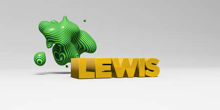 lewis: LEWIS -  color type on white studiobackground with design element - 3D rendered royalty free stock picture. This image can be used for an online website banner ad or a print postcard.