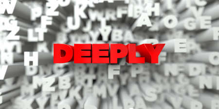 royalty: DEEPLY -  Red text on typography background - 3D rendered royalty free stock image. This image can be used for an online website banner ad or a print postcard. Stock Photo