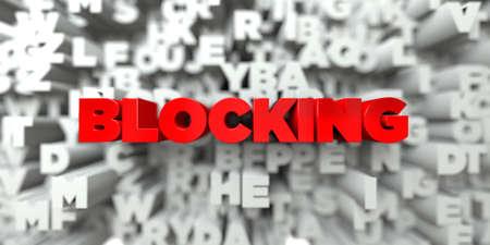 BLOQUEO - El texto rojo en el fondo de la tipografía - Imagen de stock libre 3D prestados. Esta imagen se puede utilizar para un anuncio bandera del Web site en línea o una postal de impresión. Foto de archivo