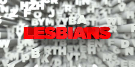 royalty: LESBIANS -  Red text on typography background - 3D rendered royalty free stock image. This image can be used for an online website banner ad or a print postcard.
