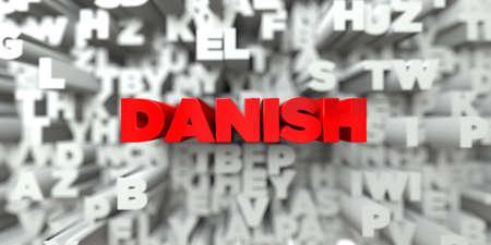 デンマーク - タイポグラフィの背景に赤いテキスト - 3 D レンダリングされたロイヤリティ フリー ストック イメージ。この画像は、オンラインの web