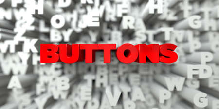 free stock: BUTTONS -  Red text on typography background - 3D rendered royalty free stock image. This image can be used for an online website banner ad or a print postcard. Stock Photo
