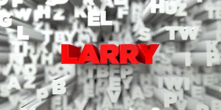 ラリー - タイポグラフィの背景に赤いテキスト - 3 D レンダリングされたロイヤリティ フリー ストック イメージ。この画像は、オンラインの web サ