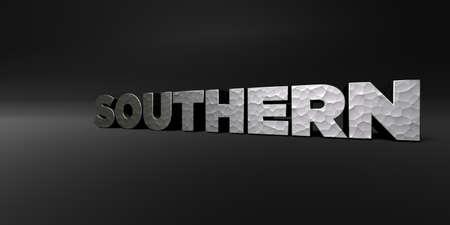 南黒のスタジオでの鍛造金属仕上げテキスト - 3 D レンダリングされたロイヤリティ フリーのストック フォト。この画像は、オンラインの web サイト
