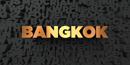 バンコク - 黒地にゴールド テキスト - 3 D レンダリングされたロイヤリティ フリー ストック画像。この画像は、オンラインの web サイトのバナー広告や印刷はがきの使用できます。 写真素材 - 67435225