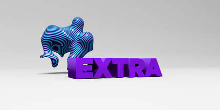 EXTRA - 3D rendered colorful headline illustration.  Can be used for an online banner ad or a print postcard.