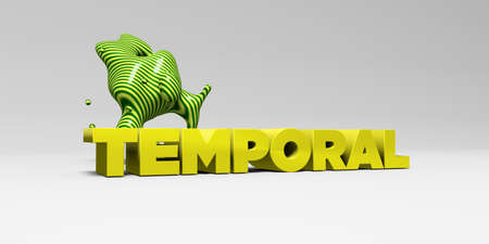 TEMPORAL - 3D rendered colorful headline illustration.  Can be used for an online banner ad or a print postcard. Stock Photo