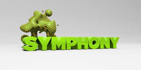 交響曲 - カラフルな見出し図 3 d。 オンラインのバナー広告や印刷のはがきに使用できます。