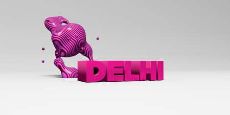 델리 -3D 다채로운 헤드 라인 그림을 렌더링합니다. 온라인 배너 광고 또는 인쇄 엽서에 사용할 수 있습니다.