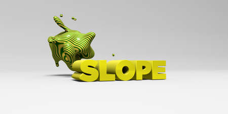 slope: SLOPE - 3D rendered colorful headline illustration.  Can be used for an online banner ad or a print postcard.