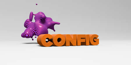 config: CONFIG - 3D rendered colorful headline illustration.  Can be used for an online banner ad or a print postcard. Stock Photo
